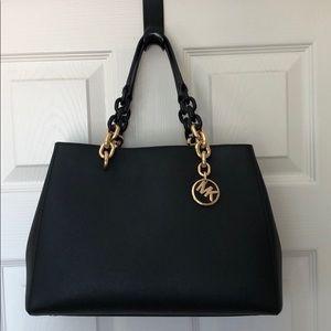Michael Kors Cynthia leather satchel.